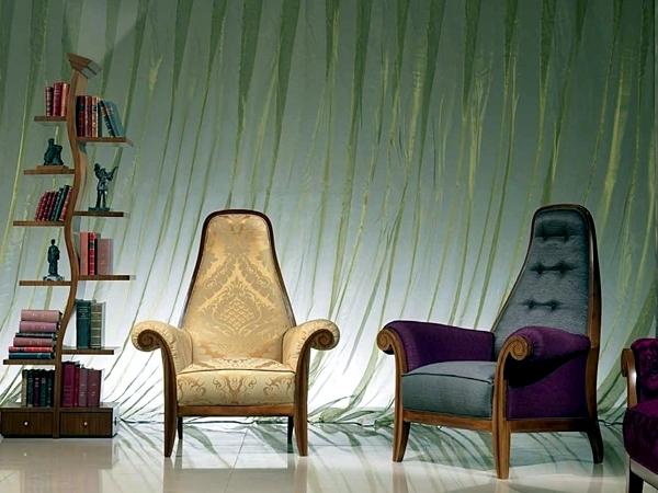 Unusual bookcase design of Carpanelli as flat-highlight