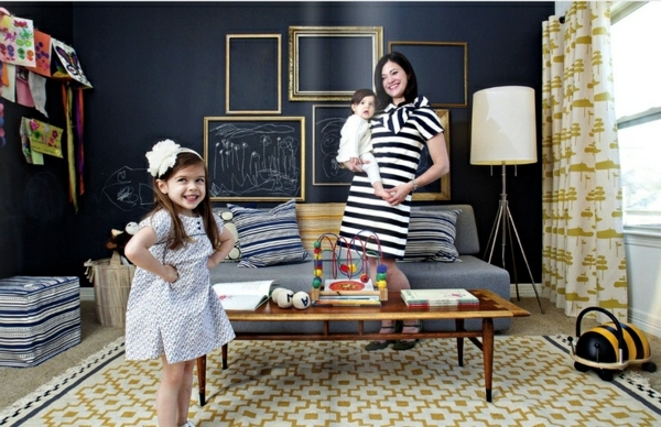 Use chalkboard paint creatively - decoration ideas for the nursery