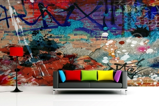 use graffiti as a wall decoration invite street art at home rh ofdesign net