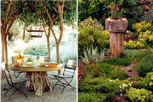 Use old items in new interior 19 decorating ideas from for Tree trunk slice ideas
