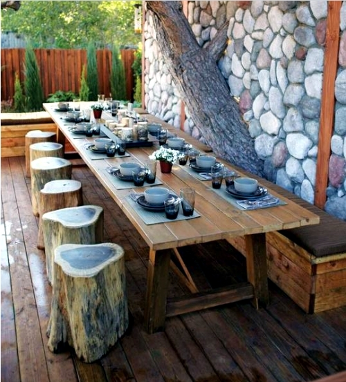 Use old items in new interior - 19 Decorating ideas from tree trunk