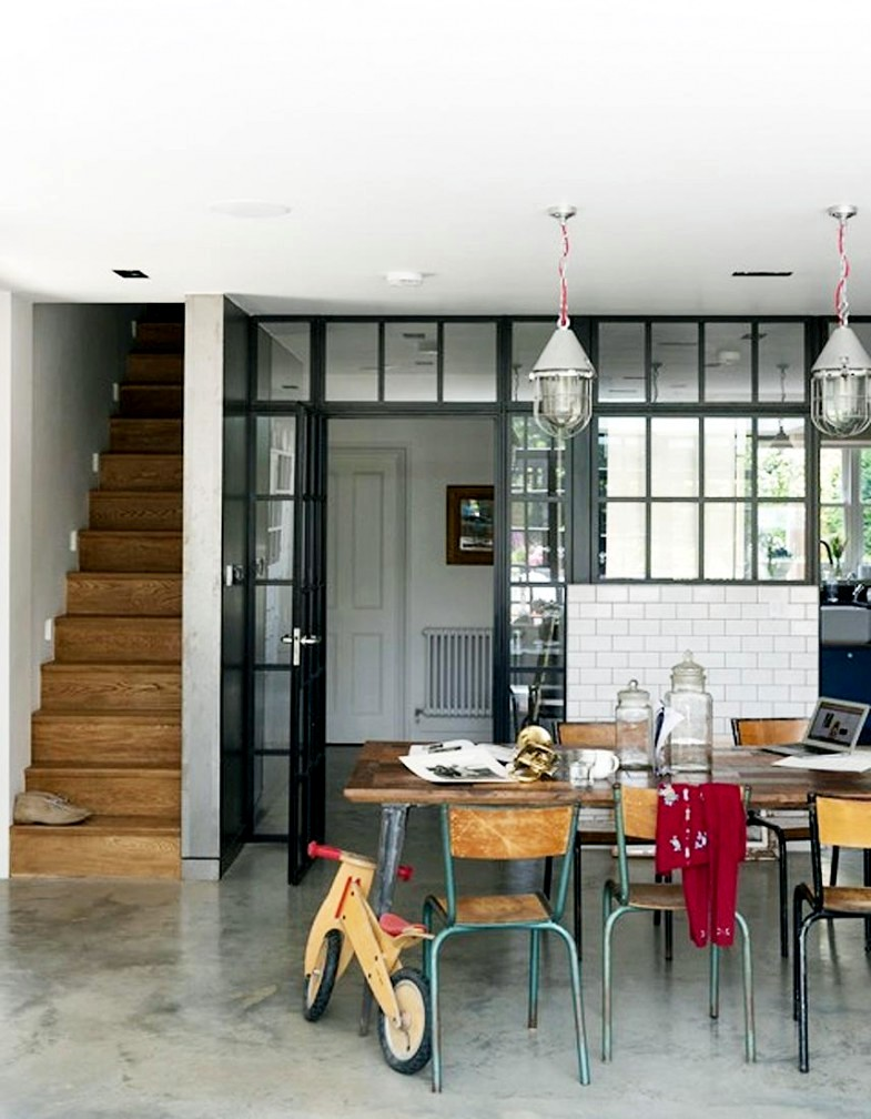 English style interior staircase