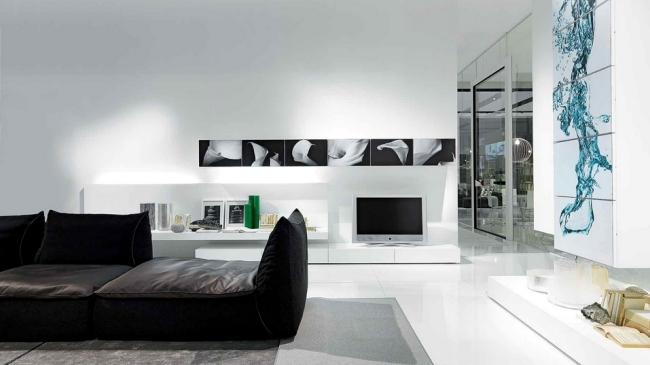 Wall Shelf Designs by Presotto for the modern living room interior