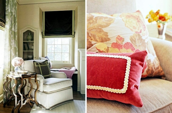 Warm autumn colors for furniture and decoration natural look