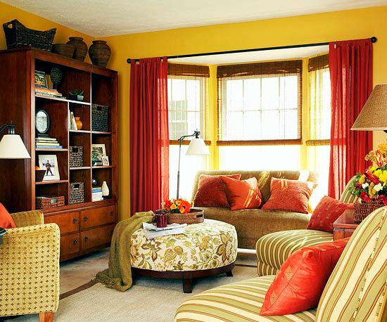 Warm colors for fun-loving harmonious interior color ...