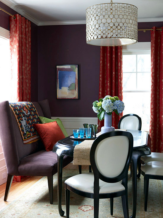 Warm colors for fun-loving harmonious interior color combinations