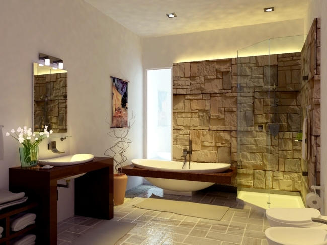 Bathroom tiles without