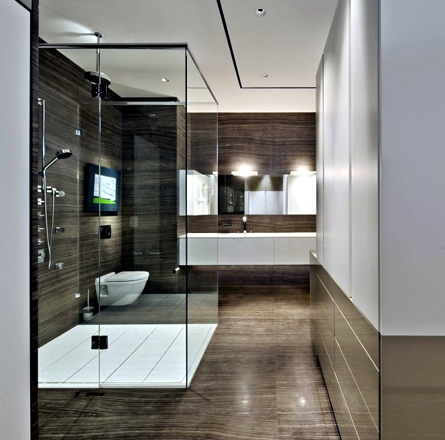 Simple Different Design Bathroom Without Walls And Floor Tile  1 Decor