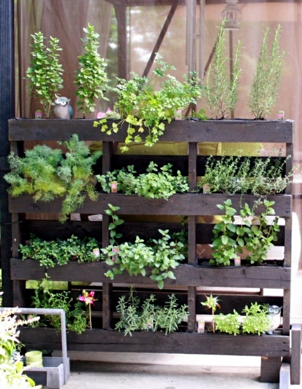 Wood euro pallets furniture for garden and balcony – ideas you can ...