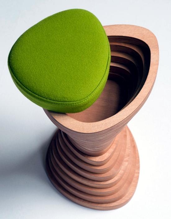 Wood furniture design integrates the natural landscape in modern interior