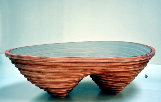 Wood furniture design integrates the natural landscape in modern interior