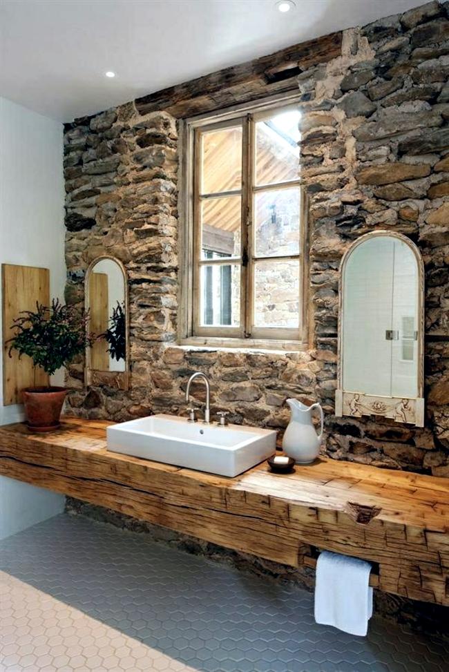 Wooden bathroom design - Ideas for Rustic Bathroom