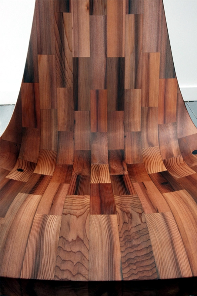 Wooden chair sculptural design pays historic building recognition