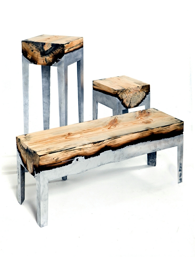 Wooden table with metal frame impressed with minimalist aesthetics